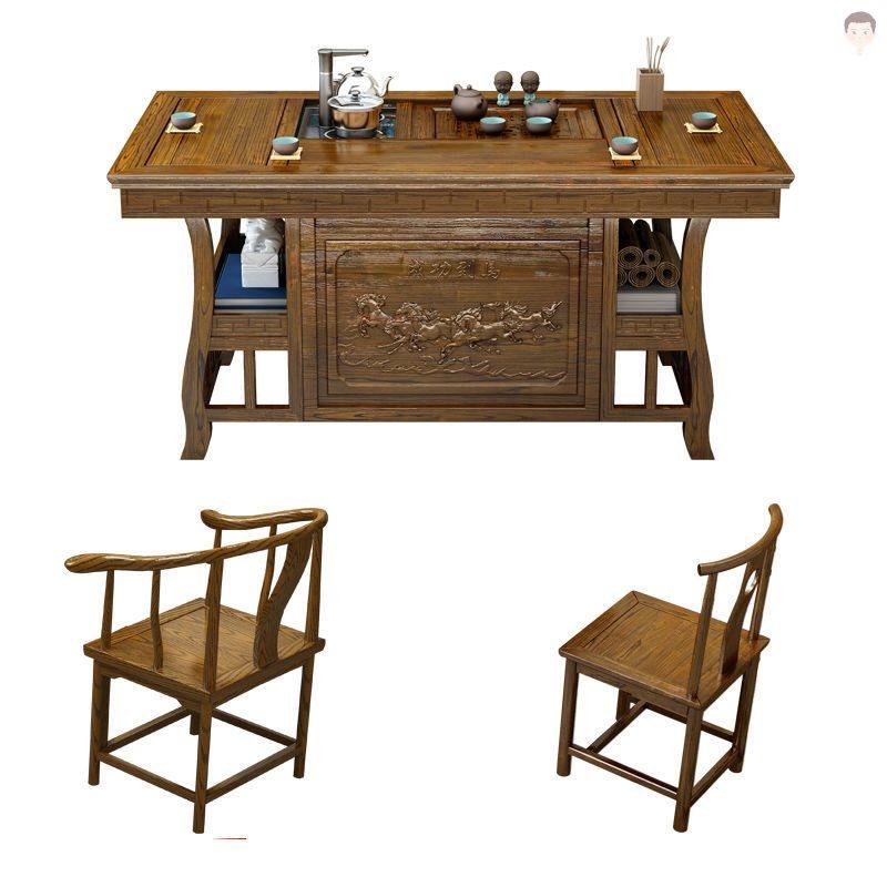 简约喝茶办公功夫泡茶桌室饮茶茶台台桌新中式新中新款茶馆古典餐