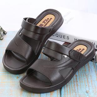 新款 浴室按摩夏季 男防滑居家时尚 回力新潮凉拖鞋 两用休闲凉鞋 3888