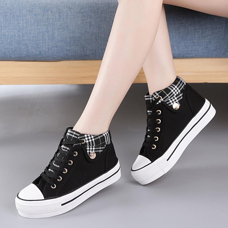 匡米葳靴帮帆布鞋女款哪款好