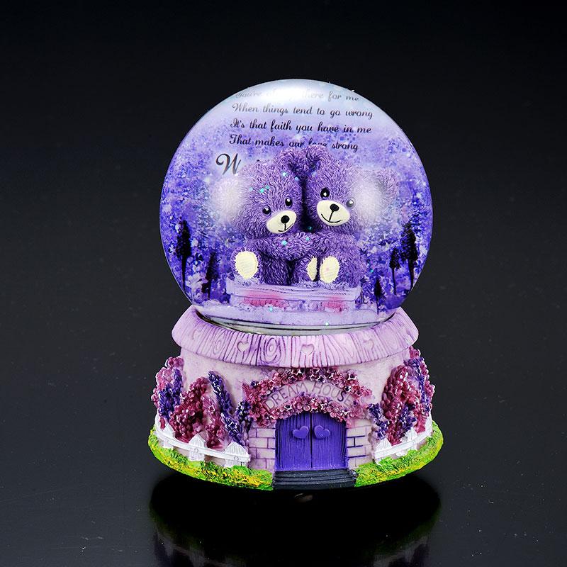 创意水晶球音乐盒八音盒送男女生闺蜜儿童小朋