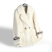 羊剪绒大衣女士休闲皮毛一体颗粒羊羔毛皮草亚博安卓app 2019新款 反季 时尚