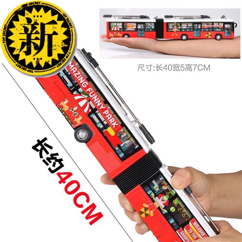 オープントイズバスA車合金バス二階建てバス模型大型子供用おもちゃ車
