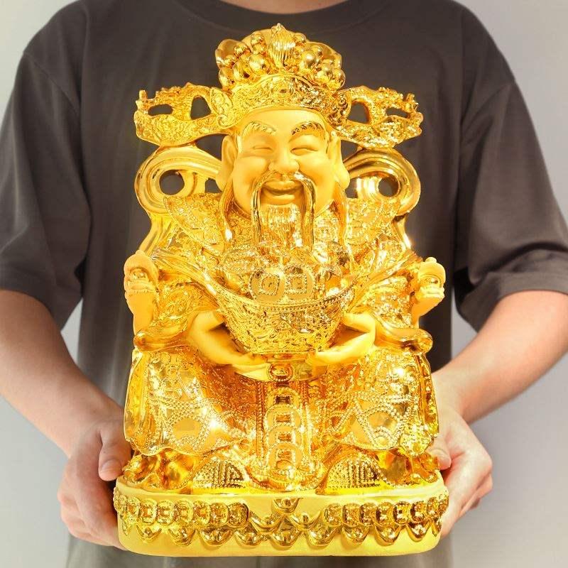 。财神爷佛像招财客厅摆件开业礼品公司店铺供奉开光风水文财神佛