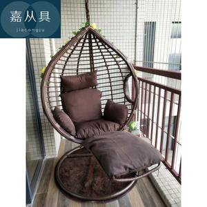 院家用摇床椅住宅/家具脚踏秋千可躺阳台/庭抖音爆款室内吊篮摇篮