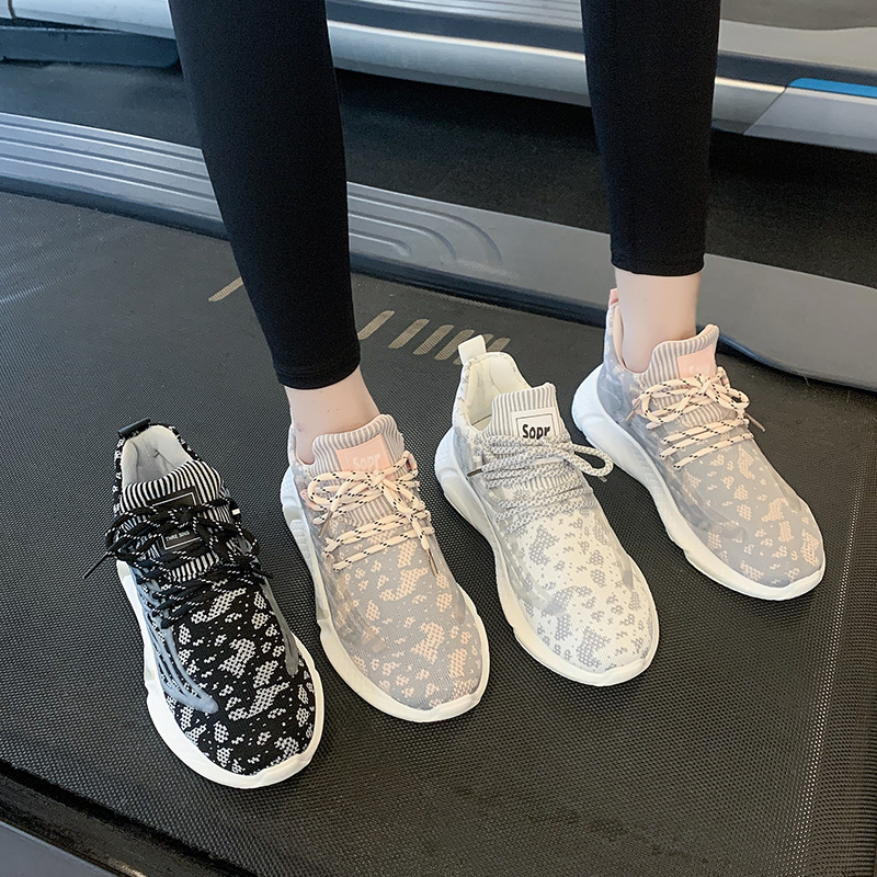运动鞋女ins潮2021年春季新款网面透气百搭健身房休闲运动跑步鞋
