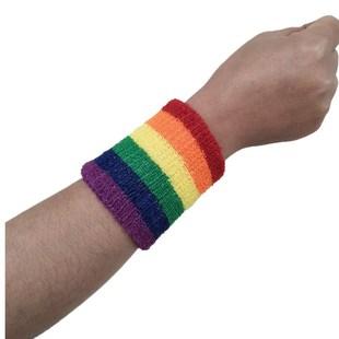 供应可刺绣定制LOGO新款篮球护臂加长尼龙彩虹护腕护肘2019新款