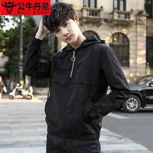 BULL DANNI/公牛丹尼新款青年男士外套男薄款时尚夹克男衫休闲装