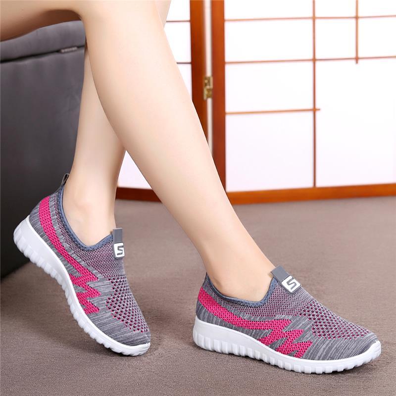 乔迪尔大东官方旗舰店夏季老北京布鞋女网面中老年运动鞋一脚蹬透有赠品