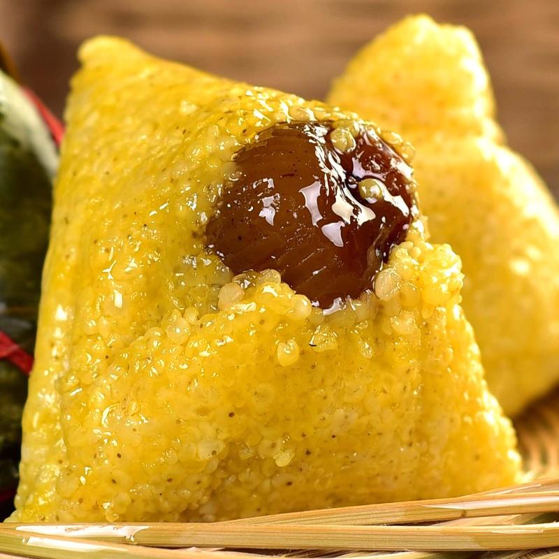 大黄米粽子纯手工蜜枣网红礼盒包装散装豆沙大枣端午节甜黄米粽子