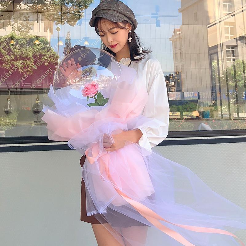 小王子的波波球玫瑰花太空同款气球花花束网红玫瑰花diy礼物