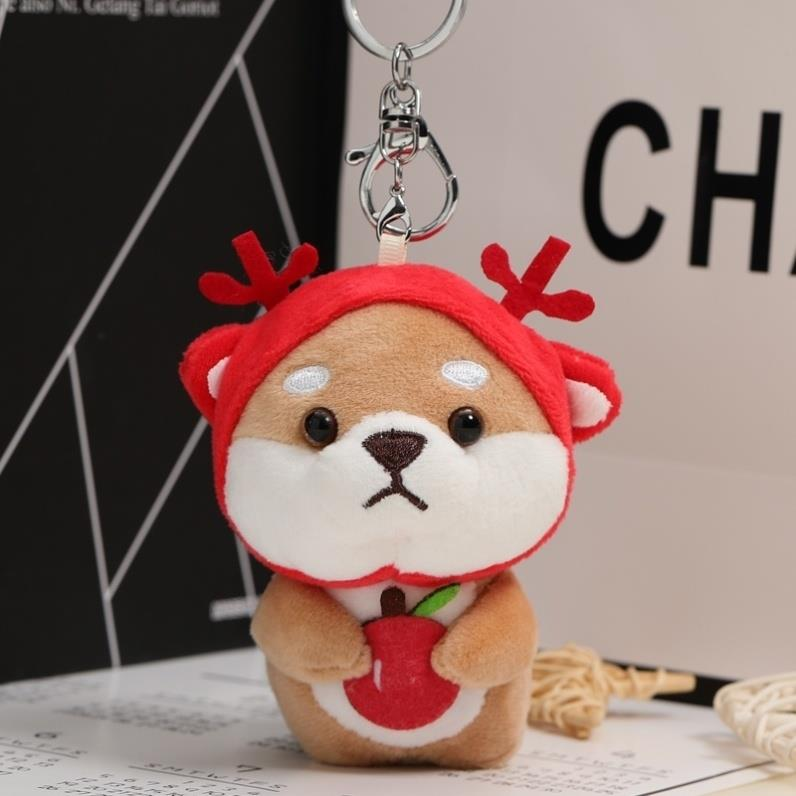 R Plush accessories womens bag hanging decoration not decorated loyal dog ins little couple frog student doll schoolbag ring