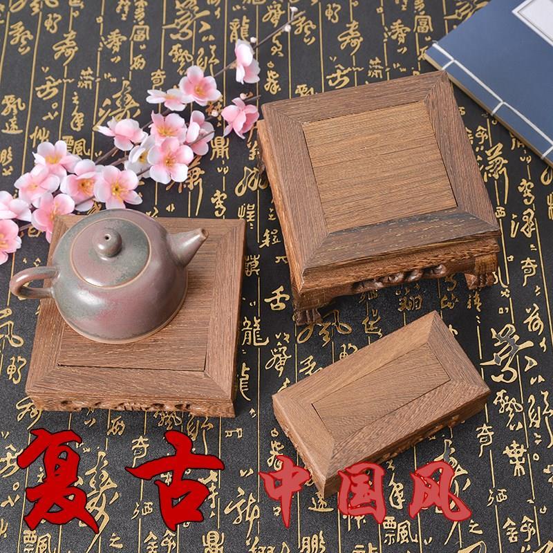 。复古实木小台子木墩茶具底座饰品食品拍照背景拍摄摄影道具