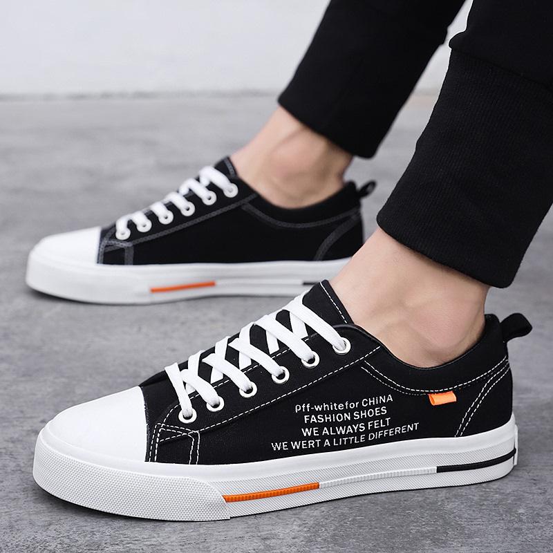 男帆布鞋2020夏季新款潮流男士网红百搭轻便透气休闲学生拼色板鞋