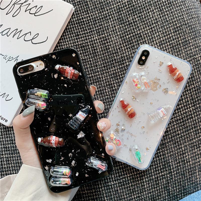 限时2件3折网红同款胶囊药丸oppoA9手机壳A9x男女A7X个性A7创意A3立体汽水瓶A5
