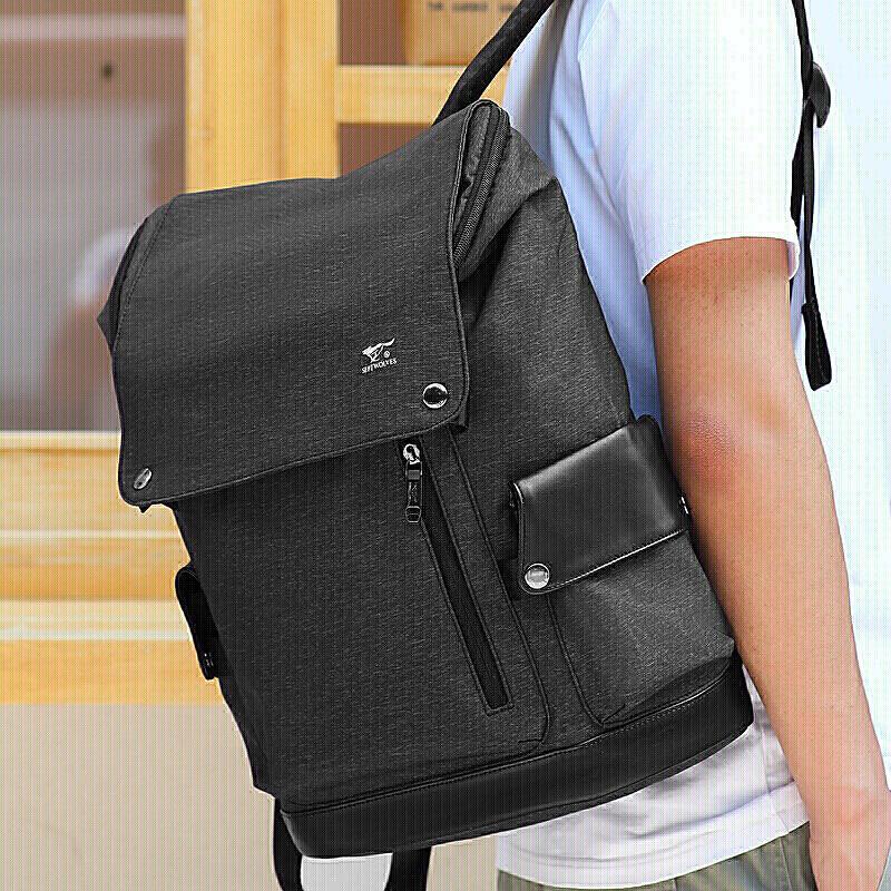 七匹狼专柜正品双肩包背包男女15.6寸笔记本电脑包商务休闲牛津布