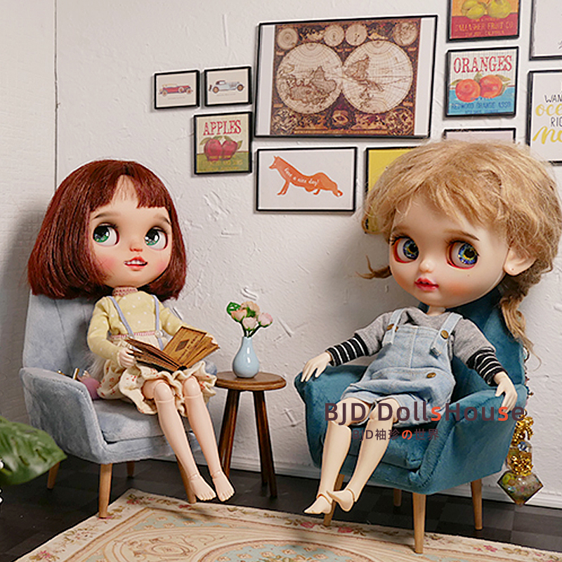 BJD Baby House accessories ble small cloth 6 points available VELVET SOFA model four color optional package mail