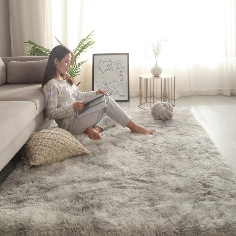 卧室满铺北欧ins客厅茶几网红毛毯评价好不好