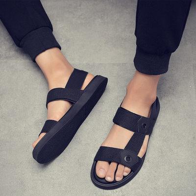 Ins Fashion Mens Beach Sandals Flat Non-slip Male Summer Hol