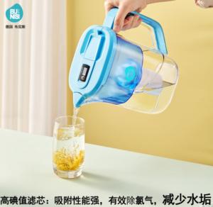 德国布尼斯家用净水壶大容量厨房净水器过滤水器便携滤水壶净水杯