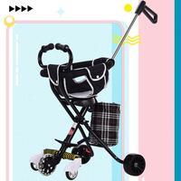 三轮车可坐溜娃便携式超轻便伞车
