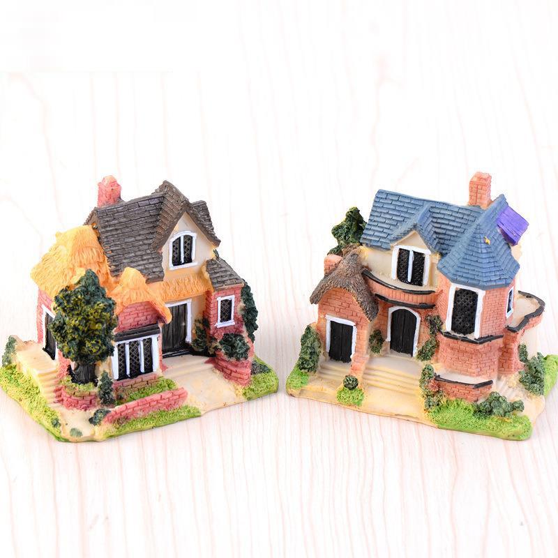 鱼缸造景装饰 微景观装饰摆件大号中式豪华别墅小房子模型DIY材料,可领取1元天猫优惠券