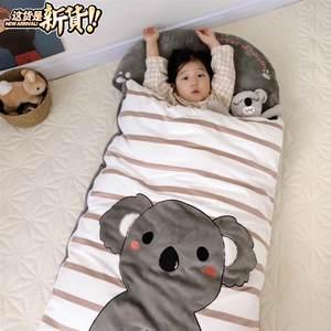 萌系秋冬款儿童保暖防踢被婴儿牛奶绒加厚睡袋宝宝幼l儿园午睡被