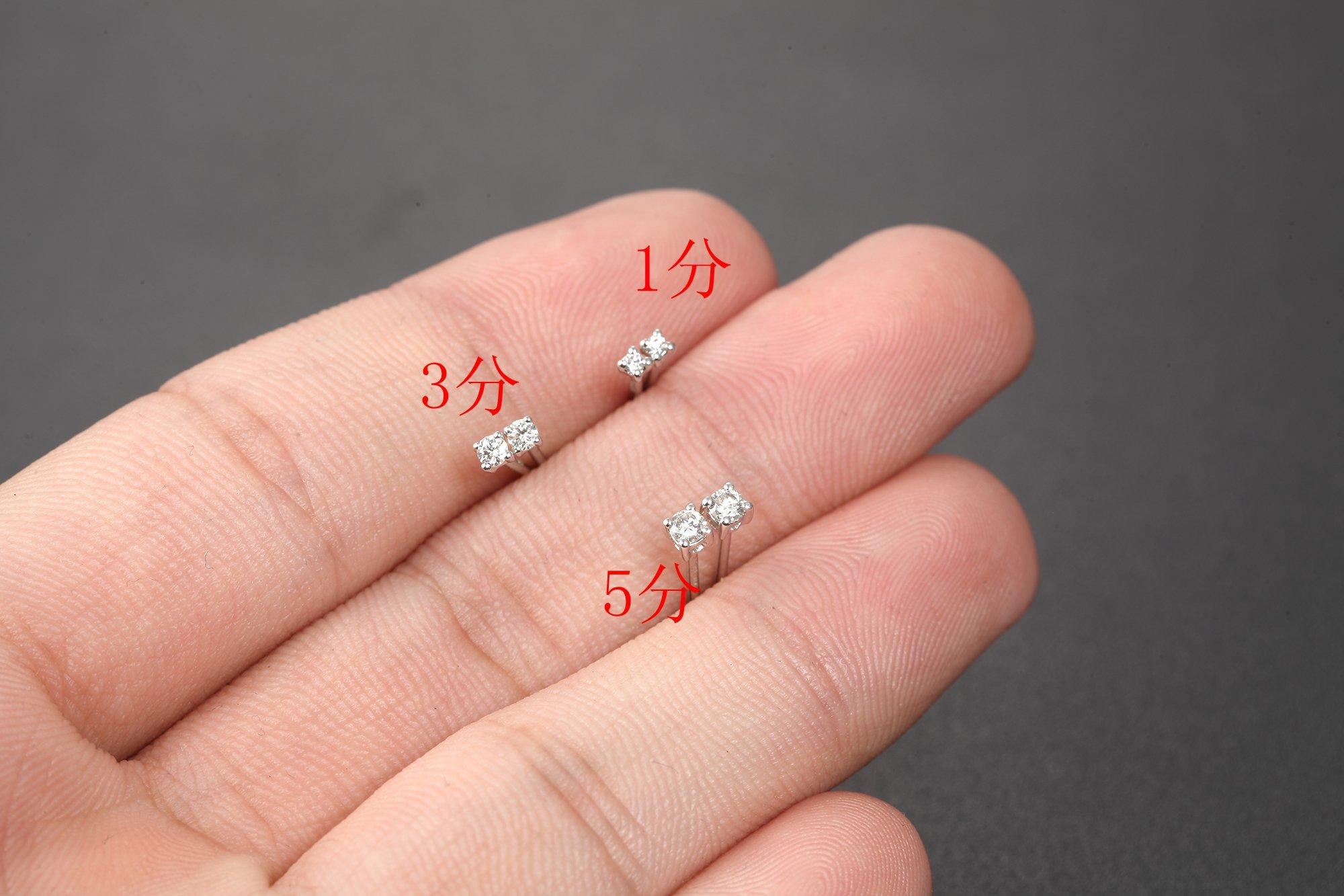 铂金PT950钻石耳钉单只白金单钻耳骨耳环明星时尚款情侣定制