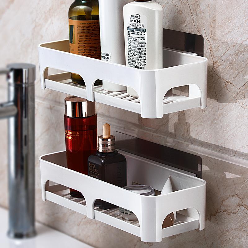 卫生间用品用具收纳架洗手间洗漱台浴室置物架厕所免打孔墙上壁挂