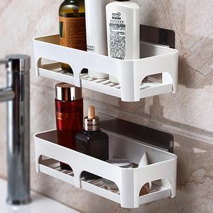 衛生間用品收納架洗手間洗漱臺浴室置物架廁所免打孔墻上衛浴壁掛