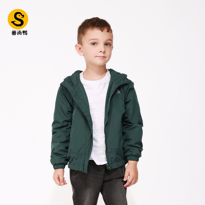 Boys winter coat childrens wear 2019 new childrens middle and large childrens coat Top Casual hooded Plush jacket