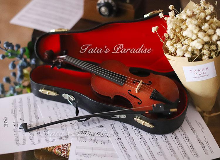 6/4/3分大叔巨婴BJD.MDD娃用拍照配件乐器道具迷你小提琴(带琴盒)