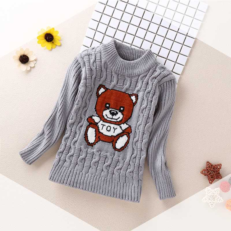 [full body Plush] childrens sweater childrens high and low collar girls sweater boys bottomed warm T-shirt