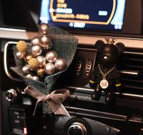 车载香水出风口夹汽车用品空调车内装饰品摆件持久淡香创意香薰男