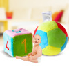 Tong Chang baby toys grasping cloth ball rattles recognized several squares of cloth dice plush baby rattles