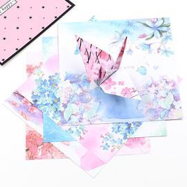 。双面折纸纸手工古风樱花印花夜空专用鹤彩纸爱心星座星空形正方纸