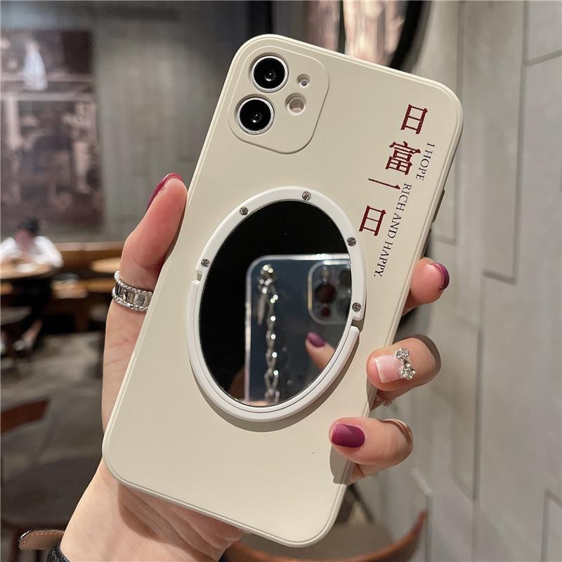 中國代購|中國批發-ibuy99|iphone|侧边日富一日iphone12镜子手机壳xr苹果11液态硅胶xs max适用78p