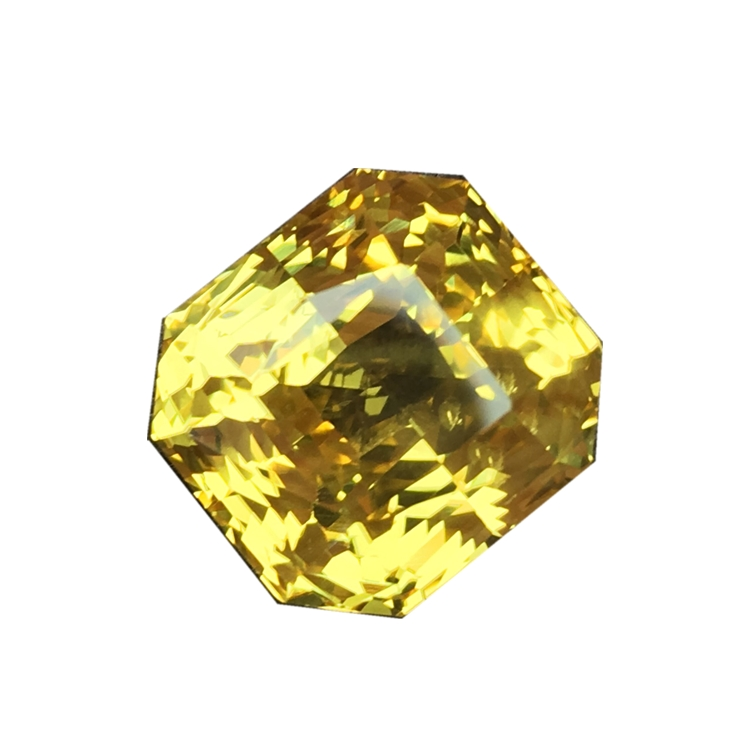 Collection grade boutique unburned full body yellow sapphire ring face bare stone 12.37 carat color gem customized