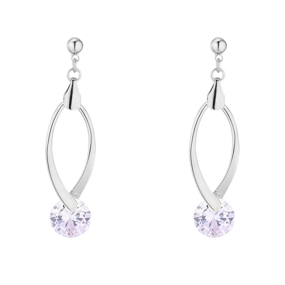 Leisure home accessories platinum Korean plated gold creative new simple temperament versatile S925 silver needle Earrings