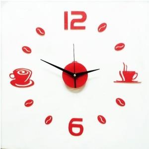 红色心形粘贴时钟 个性静音客厅钟墙钟创意婚房艺术挂钟