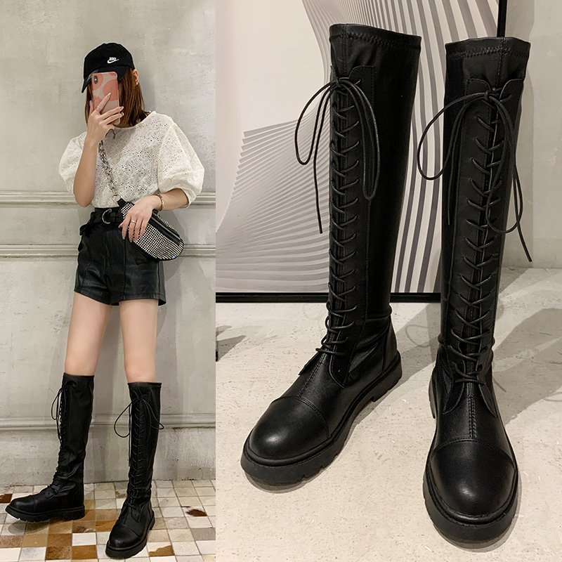 Womens short boots increase within 5cm autumn and winter 2019 new Korean frosted and plush all-around middle heel Rhinestone boots