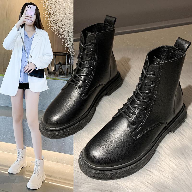 马丁靴女薄款2021春秋新款爆款帅气短靴透气厚底英伦风机车单靴子
