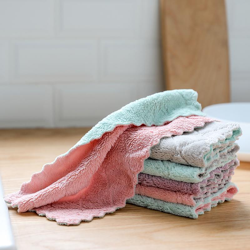 (用1元券)洗碗布不沾油厨房用品懒人抹布家务清洁巾擦桌毛巾吸水不掉毛刷碗
