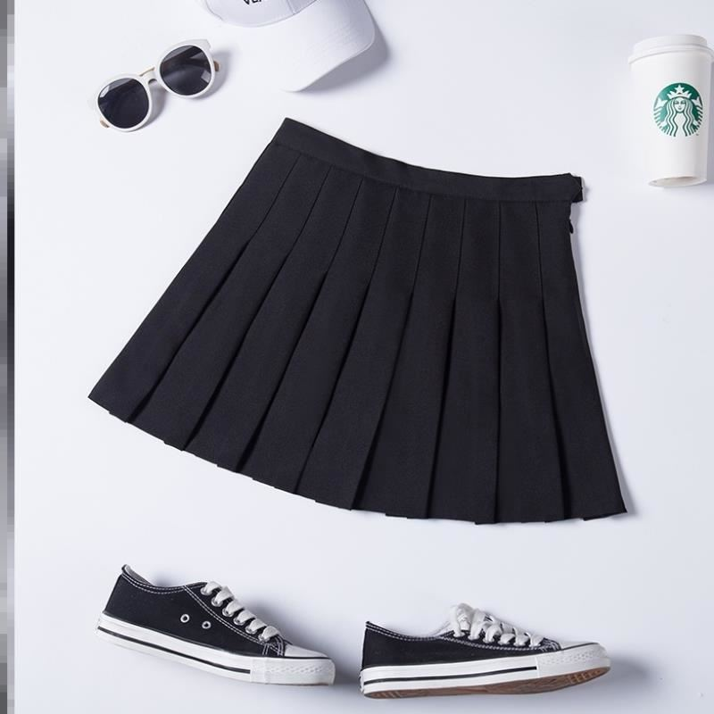 Small short skirt summer sweater with skirt fashionable and versatile A-line small pleated skirt 150cm high