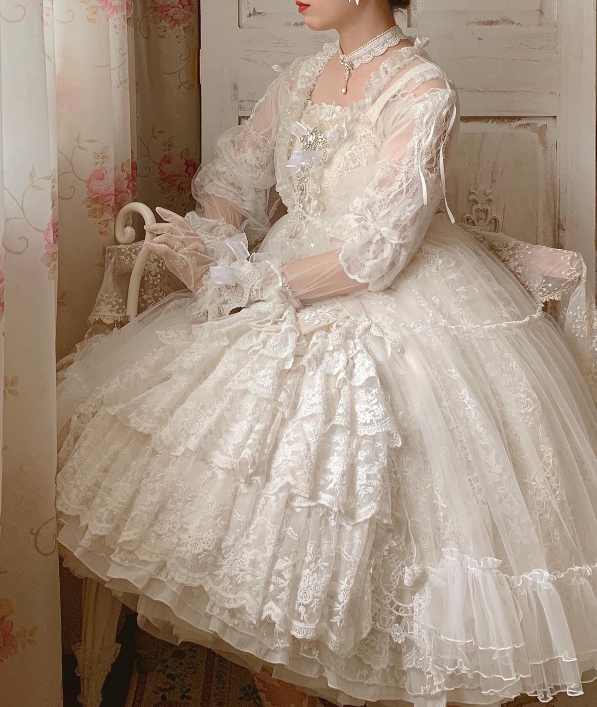 Spot new Lolita midsummer secret garden original dress jsk elegant tea party flower wedding Lolita skirt