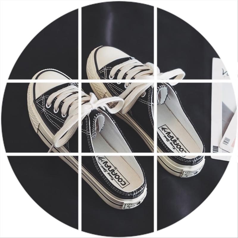 10-29新券2019爆款夏款小白鞋韩版学生一脚蹬