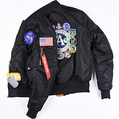 Alpha nasa co-branded bomber jacket ma-1 coat Apollo thick cotton jacket men and women 2020 tide brand