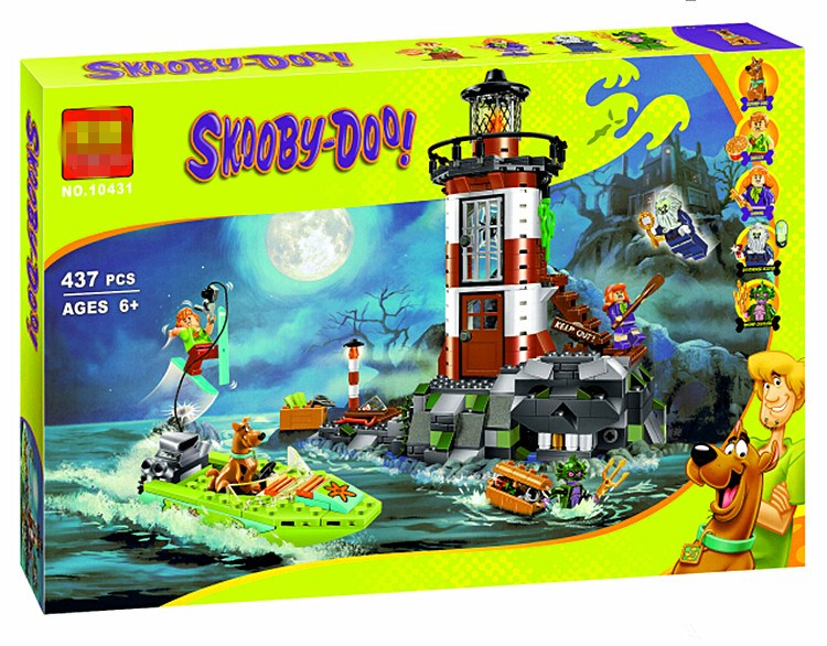 Scoobys assembled building block toys mysterious house ghost house Castle haunted lighthouse mummy Museum