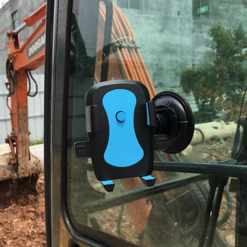 车载手机支架吸盘式前挡玻璃汽车手机架大货车挖掘机铲车架子通用