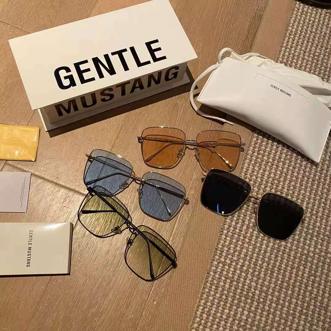 Gentle mustang2021 trendy Polarized Sunglasses look thin, fashionable, versatile, mens and womens same package