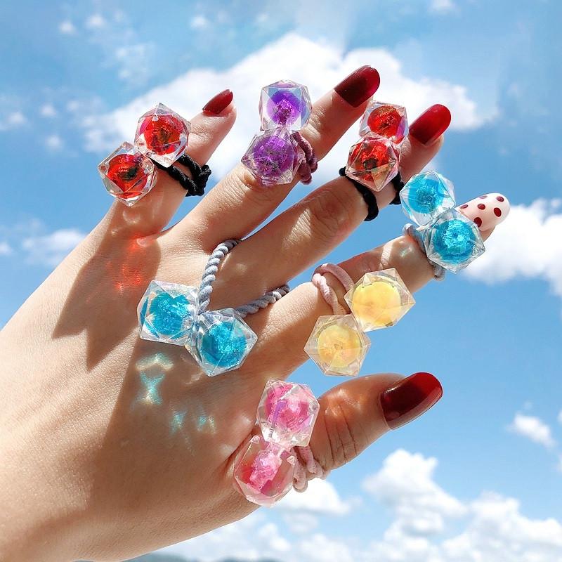 限1000张券女童可爱珠子头绳发圈韩版儿童宝宝不伤发扎头发皮筋发绳20件罐装